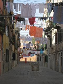Street drying clothes